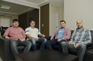 Piero Contezini, Jeferson Kortbein, Diego Contenzini e Fernando Chagas: equipe da Asaas, que já recebeu um total de R$ 3,6 mi em investimentos