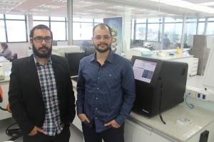 Os sócios Marcos e Luiz Felipe levaram os projetos do doutorado para a startup