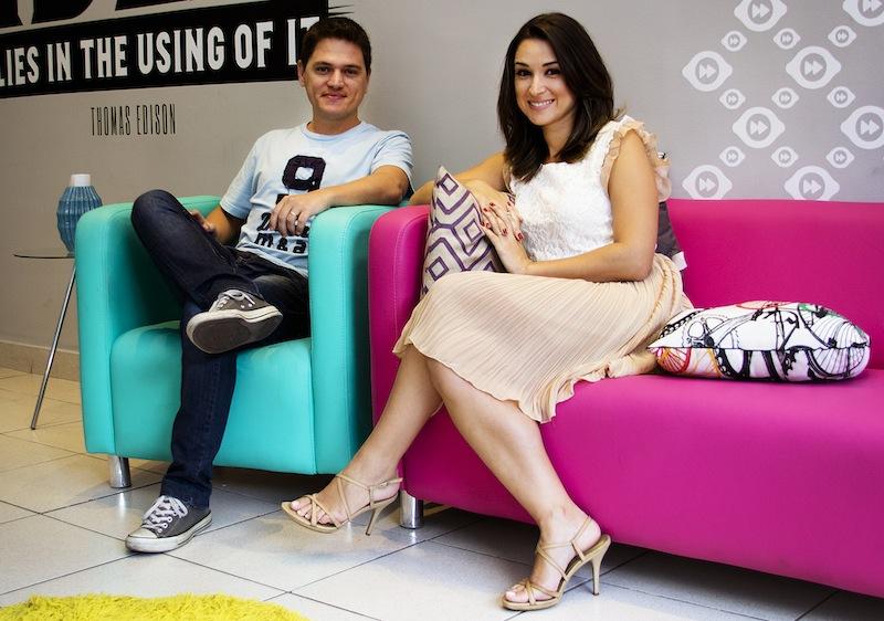 Elton Miranda e Emília Chagas, da Contentools. Crédito: Divulgação