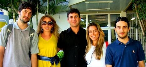 Equipe Ceres: Gabriel Bonato, Kelly Magalhães, Jeferson Magalhães, Angélica Pizetta e Vinícius Vasconcelos