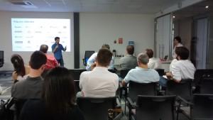 Soluções nas áreas de saúde, segurança, inside sales, onboarding e RH apresentaram suas soluções para a rede de Anjos / Crédito: Divulgação TI SC