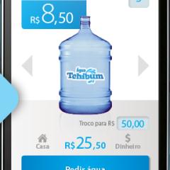 Aplicativo permite pedido de galões de água pelo celular