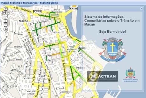 Mapa de Macaé