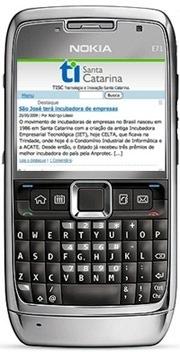 TI Santa Catarina em versão mobile