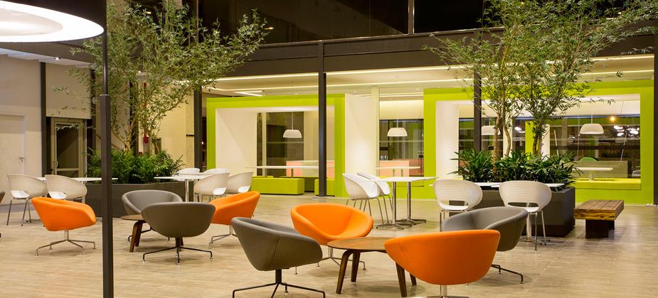 Ambiente central do Centro de Inovação ACATE. Foto: divulgação