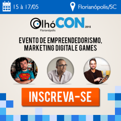 OlhóCON 2015 debate marketing digital, empreendedorismo e games