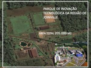 Parque tecnológico de Joinville. Crédito: Univille