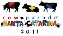 Vacas tecnológicas na CowParade de SC
